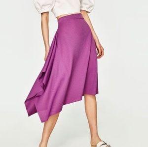 NWOT Zara Asymmetrical Skirt